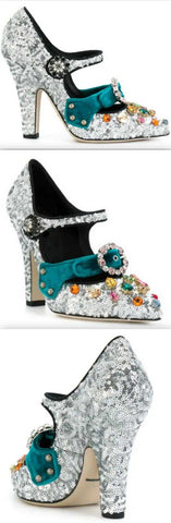 Glitter Mary Jane Pumps | DESIGNER INSPIRED FASHIONS