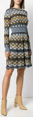 Zig-Zag Knitted Dress