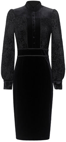Black Velvet Sheath Dress | DESIGNER INSPIRED FASHIONS