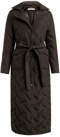 Long Embroidered Padded Coat