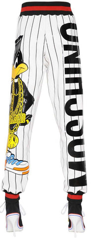 'Daffy Duck' Printed Jersey Pants - DESIGNER INSPIRED FASHIONS