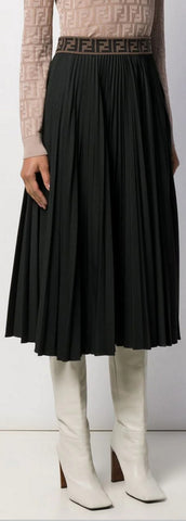 Pleated Zucca Skirt | DESIGNER INSPIRED FASHIONS