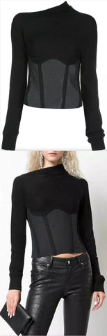 Asymmetric Log-Sleeve Top | DESIGNER INSPIRED FASHIONS