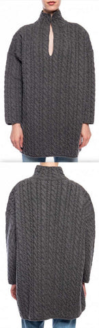 Oversized Cable Knit Sweater, Grey | DESIGNER INSPIRED FASHIONS
