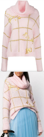 Metallic Check Jumper, Pink