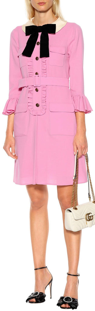 Belted Ruffle Dress