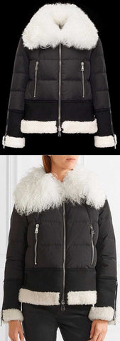 'Kikilya' Fur Trim Puffer Down Jacket - DESIGNER INSPIRED FASHIONS