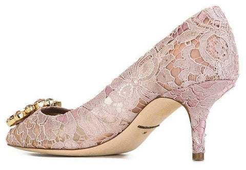 a07282fb021 ... Bellucci Embellished Lace Pumps - DESIGNER INSPIRED FASHIONS ...