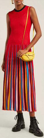 Pleated Knit Dress | DESIGNER INSPIRED FASHIONS