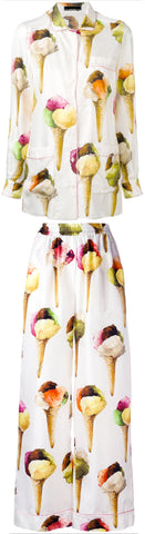 Gelato (Ice Cream) Print Pajama Shirt & Pant Set