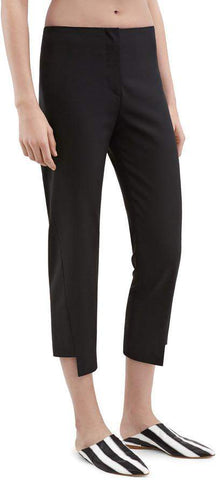 Asymmetric Cropped Pants in Black | DESIGNER INSPIRED FASHIONS