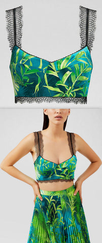 Jungle Print Bralette Top