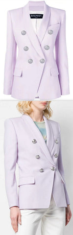 Double Breasted Blazer, Lilac