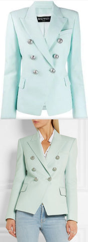 Double-Breasted Blazer, Mint | DESIGNER INSPIRED FASHIONS