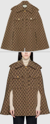 GG Wool Cape | DESIGNER INSPIRED FASHIONS