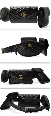 GG Marmont Multi Belt Bag, Black | DESIGNER INSPIRED FASHIONS