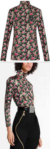 Floral Fitted Top | DESIGNER INSPIRED FASHIONS