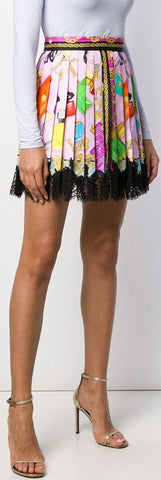 'Blonde' Print Lace Skirt