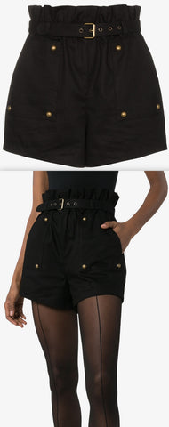 High Waist Belted Shorts | DESIGNER INSPIRED FASHIONS