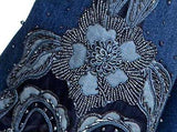 Embellished Floral Faded Jeans - DESIGNER INSPIRED FASHIONS