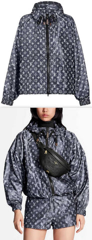 Blurry Monogram Hooded Parka | DESIGNER INSPIRED FASHIONS