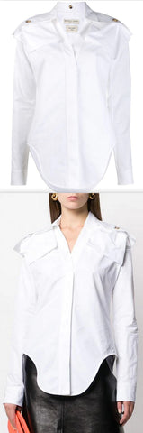 Belted Shirt, White | DESIGNER INSPIRED FASHIONS
