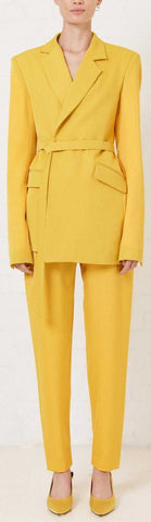 Yellow Suit-Jacket and Pant Set