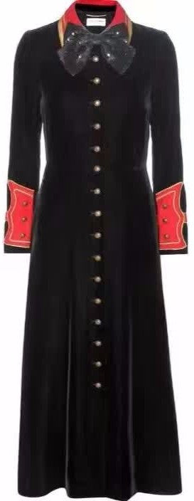 Black Embellished Velvet Coat - DESIGNER INSPIRED FASHIONS