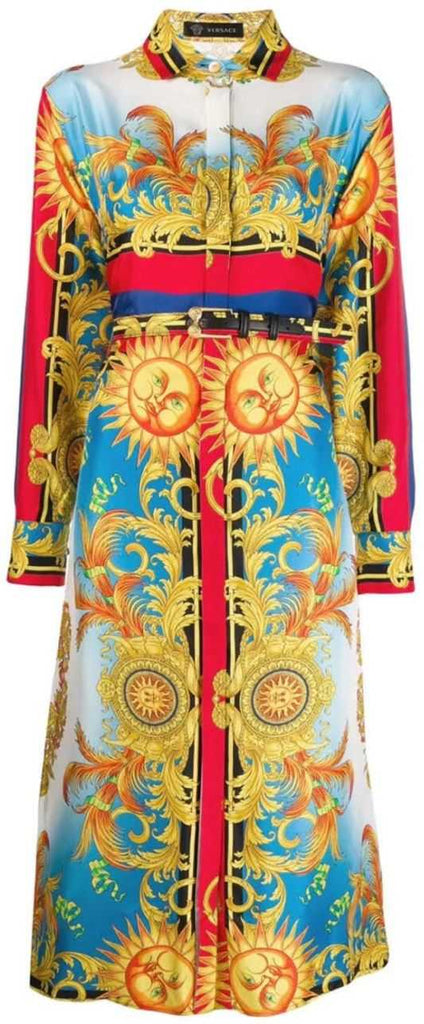 Baroque Sun Printed Shirt Dress | DESIGNER INSPIRED FASHIONS