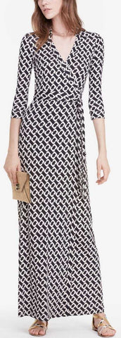 'Abigail' Maxi Wrap Dress - DESIGNER INSPIRED FASHIONS