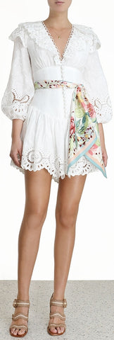 'Bellitude' Scalloped Lace Mini Dress
