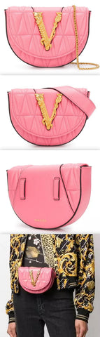 'Virtus' Quilted Belt Bag, Pink