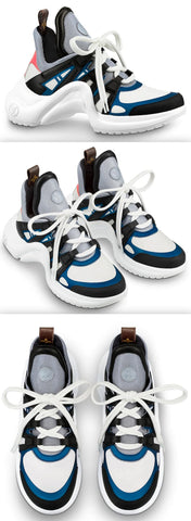 'Archlight' Sneaker, Black & Blue