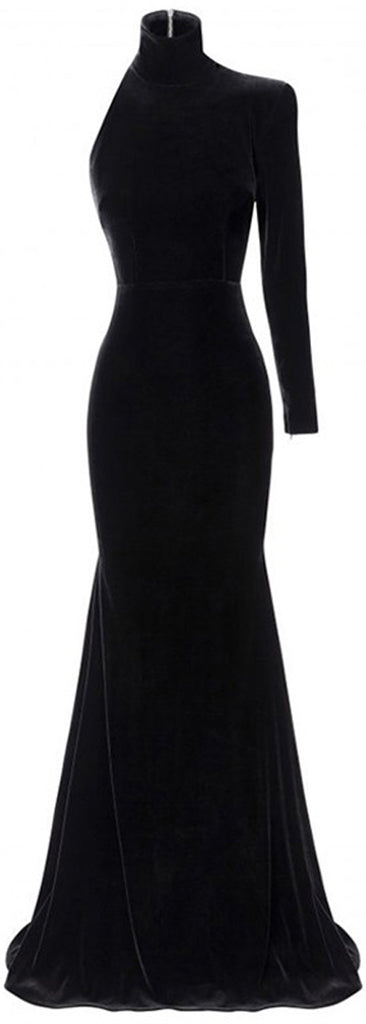 'Harlyn' Velvet Single Sleeve Gown | DESIGNER INSPIRED FASHIONS