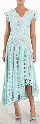 'Moncur' Studded Dress,Light Blue