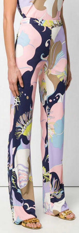 'Mirabilis' Print Flared Trousers | DESIGNER INSPIRED FASHIONS