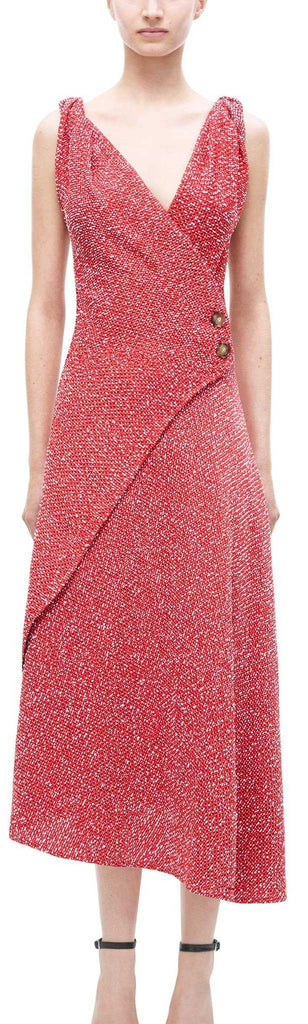 Twist Shoulder Drape Midi