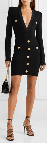 Short Black Knit Dress | DESIGNER INSPIRED FASHIONS