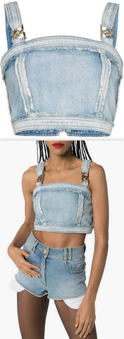 Denim Crop Top | DESIGNER INSPIRED FASHIONS