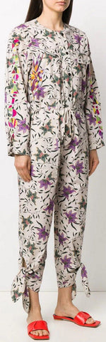 Floral Print Long Sleeve Jumpsuit