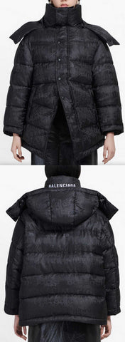 Mixed Typo New Swing Puffer Jacket | DESIGNER INSPIRED FASHIONS