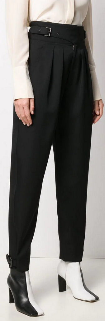 'Yurnea' High-Waist Trousers, Black | DESIGNER INSPIRED FASHIONS