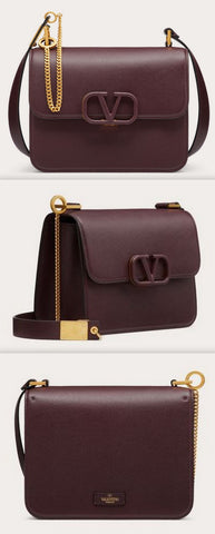 'VSLING' Grainy Calfskin Shoulder Bag, Rubin | DESIGNER INSPIRED FASHIONS