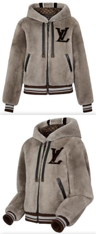 Logo Shearling Jacket | DESIGNER INSPIRED FASHIONS