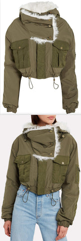 Shearling-Trimmed Bomber Jacket | DESIGNER INSPIRED FASHIONS