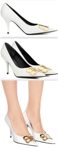 BB D'Orsay Patent Leather Pumps, White | DESIGNER INSPIRED FASHIONS