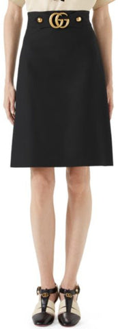 'GG' Logo Mini Skirt, Black