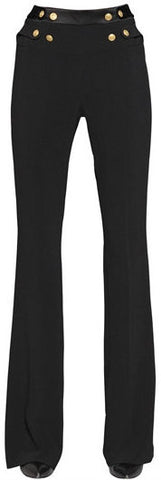 Black Crepe Flared Pants - DESIGNER INSPIRED FASHIONS