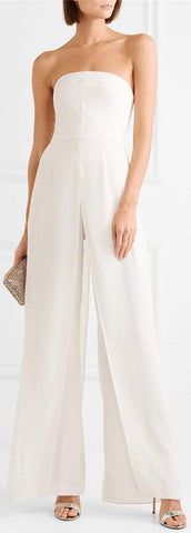 Strapless Jumpsuit, White | DESIGNER INSPIRED FASHIONS