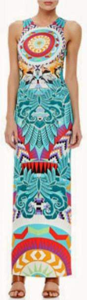 Fitted Column Jersey Silk Strapless Printed Long Dress - DESIGNER INSPIRED FASHIONS
